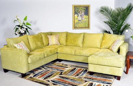 Chelsea Home Furniture 4404PCSECMM Angie Series Stationary Fabric Sofa