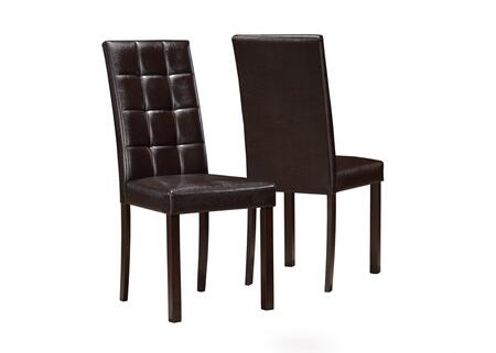 Monarch I1171  Faux Leather Wood Frame Dining Room Chair