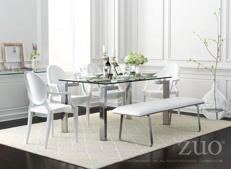 """Zuo 10610 Anime 37"""" Dining Chair with Polycarbonate Body"""
