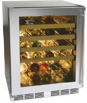 "Perlick HC24WB3LDontUse 23.875"" Built-In Wine Cooler, in Stainless Steel"