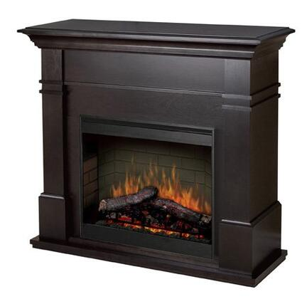 "Dimplex SMP-130-X-ST Kenton Collection Electric Fireplace, 26"" Self-trimming Firebox with on/off Remote Control"
