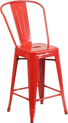 Flash Furniture CH3132024GBREDGG Residential Not Upholstered Bar Stool