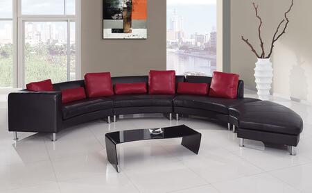 Global Furniture USA 919BLR1 Contemporary Bonded Leather Living Room Set