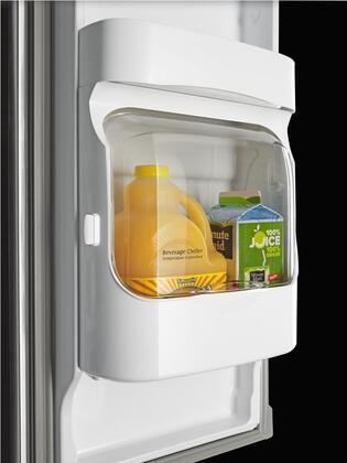 "Maytag MFI2269Fx 33"" French Door Refrigerator with 21.71 cu. ft. Capacity, PowerCold Feature, Beverage Chiller Compartment, BrightSeries LED Lighting, Water and Ice Dispenser, in"