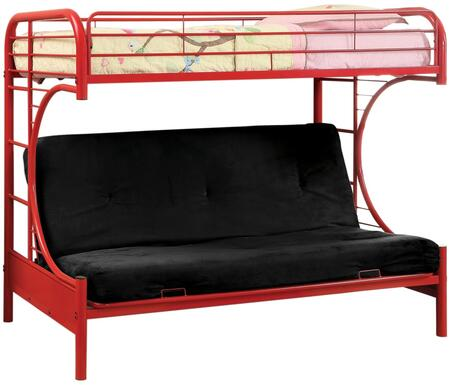 Furniture of America CMBK1034RDBED Rainbow Series  Twin Size Bunk Bed