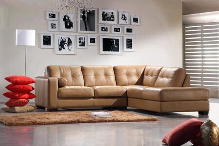 VIG Furniture VGCA30629 Divani Casa Series Sofa and Chaise Leather Sofa