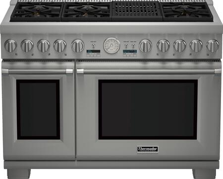 Thermador PRL486NLG Pro Grand Series 48 Inch Stainless Steel Gas Convection  Freestanding Range