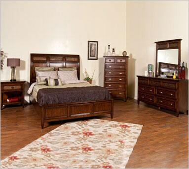 Sunny Designs 2338NMQ  Queen Size Panel Bed