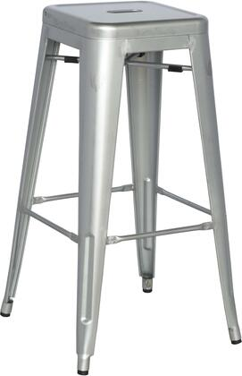 "Chintaly 8015-BS 30"" Stackable Indoor and Outdoor Galvanized Steel Bar Stool in"