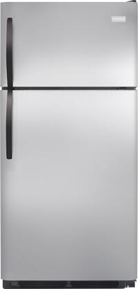Frigidaire FFHT1514Q Energy Star Rated, Garage-Ready Top Mount Refrigerator with Store-More Humidity Controlled Crisper Drawers, Bright Lighting and Reversible Door in
