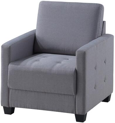 Glory Furniture G777C Fabric Armchair in Grey
