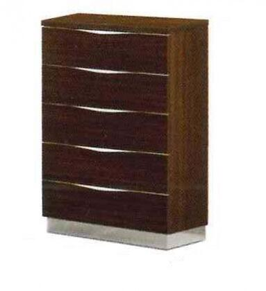 "ESF Onda Collection 30"" Chest with 5 Drawers, Made in Italy and Wood Construction in"