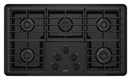 "Maytag MGC7536W 36"" Sealed Burner Gas Cooktop With 5 Sealed Burners Including 1 Simmer Burner, Frameless Design, Pilotless Electronic Ignition and Continuous Grates"