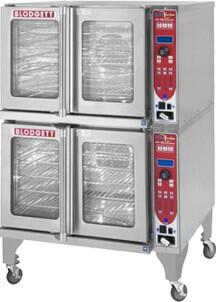 "Blodgett HV100E HydroVection Series Energy Star Electric Oven with Glass Split Door, Steam and Convection Heating, Compact 38"" Footprint, Oven Cavity Drain and Halogen Lighting, in Stainless Steel Construction:"