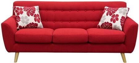Diamond Sofa SCARLETTSORE Scarlett Series Stationary Fabric Sofa