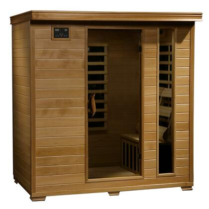 HeatWave SA2X x 4 Person FAR Infrared Sauna with Interior Reading Lights, Built-in Sound Systems, and Carbon Heaters