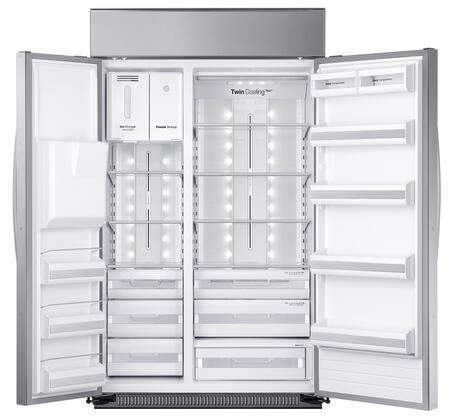 Samsung Rs27fdbtnsr 48 Inch True Series Counter Depth Side By Refrigerator With 26 5 Cu Ft Capacity In Stainless Steel Liances