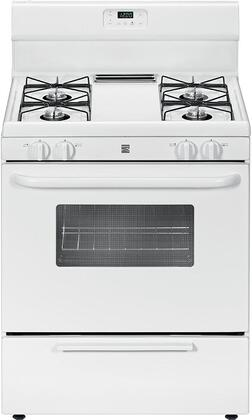 "Kenmore 22-7303 30"" Freestanding Gas Range with 4 Burners, 4.2 cu. ft. Oven Capacity, Broil & Serve Drawer and Steel Grates in"