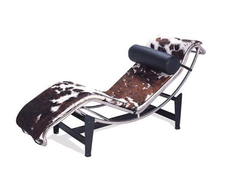 Fine Mod Imports FMI1153BROWN Modern Pony Hide Chaise Lounge