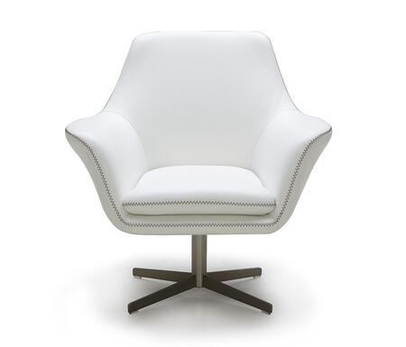 "VIG Furniture VGKKA832WHT 32"" Lounge Chair"