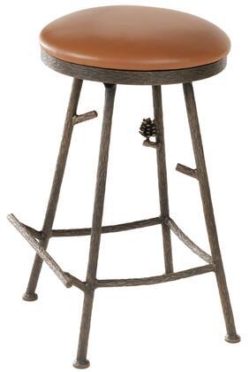 Stone County Ironworks 904215FAUXOBE Pine Series  Bar Stool