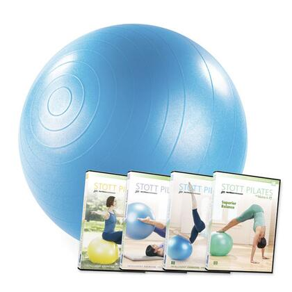 Merrithew SBDVD Stability Ball with Four Exercise DVDs