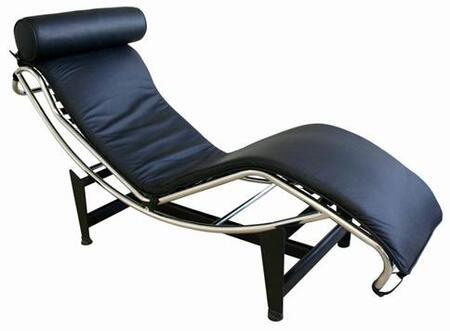 Wholesale Interiors 990ABLACK Le Corbusier Series  Chaise Lounge