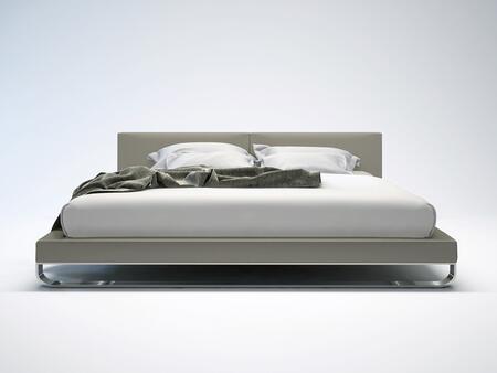 Modloft MD331FGRY Chelsea Series  Full Size Platform Bed