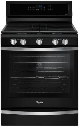 "Whirlpool WFG745H0F 30"" Freestanding Gas Range with 5.8 Cu. Ft. Oven Capacity, Center Oval Burner, True Convection, Frozen Bake Technology, Temperature Sensor, EZ-2-Lift Cast Iron Grates, and AquaLift Self-Cleaning Technology, in"
