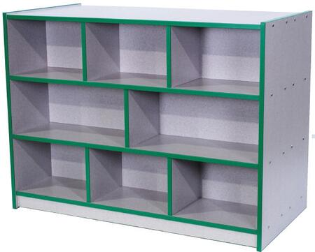 Mahar M30900 Double-Sided Storage Unit in Maple Finish with Edge Color (Youth)