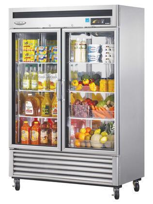 Turbo Air MSR49G2 Super Deluxe Standard Reach In Glass Door Refrigerator
