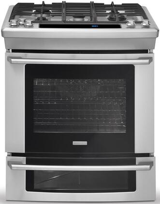 "Electrolux EW30DS75KS 30"" Wave-Touch Series Slide-in Dual Fuel Range with Sealed Burner Cooktop Oven 4.2 cu. ft. Primary Oven Capacity"