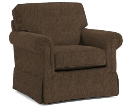 "Broyhill Audrey 3762-0/COLOR 38"" Wide Chair with Rolled Arms, Skirt Bottom and DuraCoil Seat Cushion in"