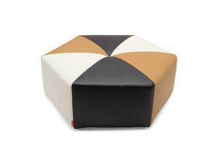 Innovation 760470C582588590AN Sixtrees Series Contemporary Leather Ottoman