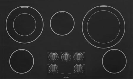 "Maytag MEC9536 36"" Smoothtop Electric Cooktop With Two Dual-Choice Elements, 5 Radiant Elements, 3,000 Watt Power Element, Shatter-Resistant Glass and Endurance Tested Elements"