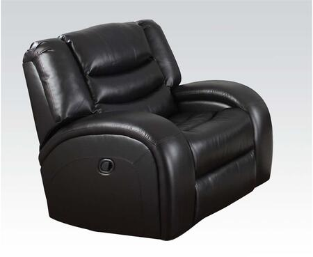 Acme Furniture 50742 Dacey Series Bonded Leather Wood and Metal Frame  Recliners