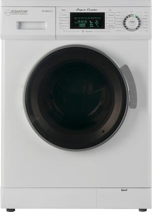 "Equator EZ4000CVx 24"" Super Combo Single-unit Washer-Dryer with Self-Clean, Child Lock, Start/Pause and Water & Energy Saver:"