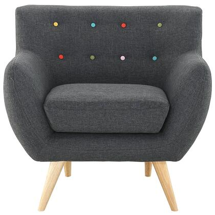Modway EEI1631GRY Remark Series Armchair Fabric Wood Frame Accent Chair