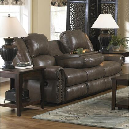 Catnapper 4505127428307428 Livingston Series  Leather Sofa