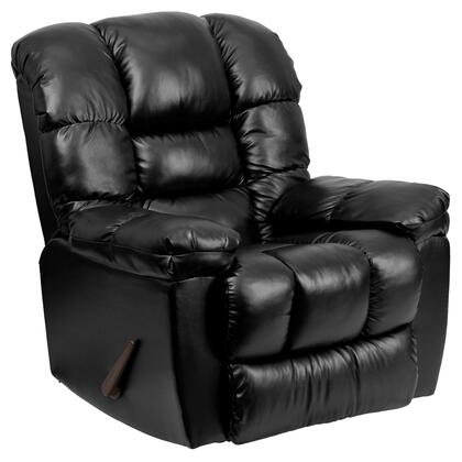 Flash Furniture AM95504801GG Contemporary New Era Series Contemporary Bonded Leather Wood Frame Rocking Recliners