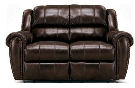 Lane Furniture 21429167576716 Summerlin Series Leather Reclining with Wood Frame Loveseat