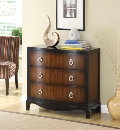 Coaster 950107 Accent Cabinets Series Freestanding Wood 3 Drawers Cabinet