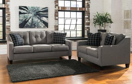 Milo Italia MI9881QSBLCHAR Lorena Living Room Sets
