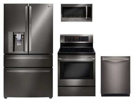LG 729000 Black Stainless Steel Kitchen Appliance Packages