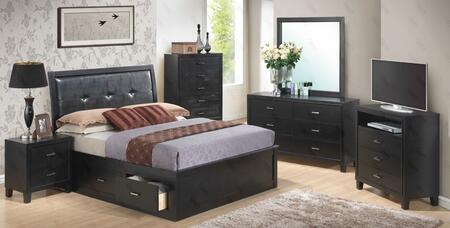 Glory Furniture G1250BFSBDMNTV G1250B Full Bedroom Sets