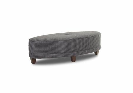 "Klaussner Jayden Collection K88800-OTTOC 56"" Ottoman with Oval Design, Button Tufted Top, Welted Details and Tapered Legs in"