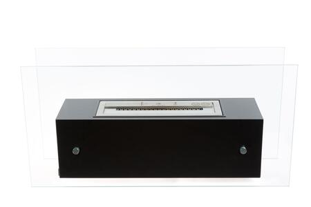 Bio-Blaze Valetta Collection BBVALX Large Freestanding Ethanol Fireplace with Low Glass