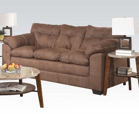 Acme Furniture 50365 Lucille Series Stationary Microfiber Sofa