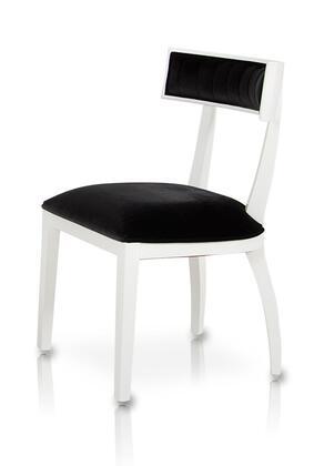 VIG Furniture VGUNAA032WHT A & X Series Modern Fabric Wood Frame Dining Room Chair