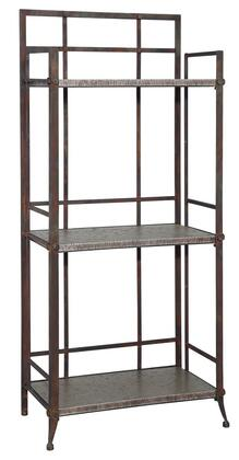 Powell 730250Foundry Series Metal 3 Shelves Bookcase